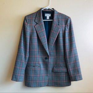 Pendleton Plaid Wool Blazer